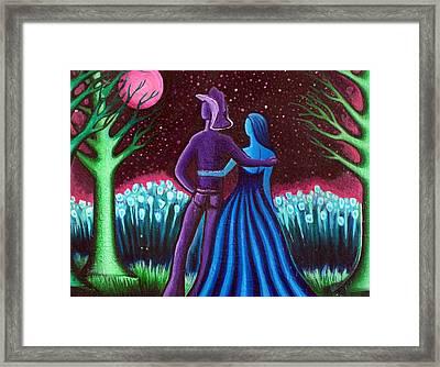 Wrangler's Moon Framed Print by Brenda Higginson