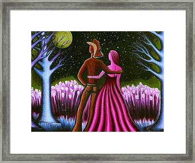 Wrangler's Moon II Framed Print by Brenda Higginson