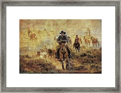 A Dusty Wyoming Wrangle Framed Print