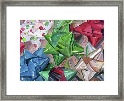 Framed Print featuring the painting Wrap It Up by Lynne Reichhart