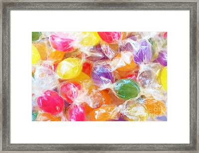 Wrapped Candies Framed Print