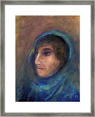 Wrapped In A Shawl Framed Print by Arline Wagner