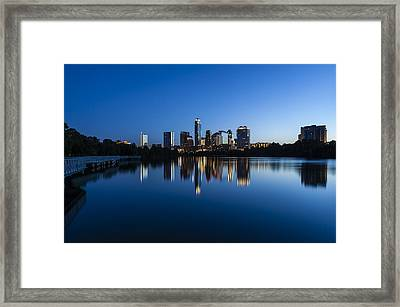 Wrapped In Blue Framed Print