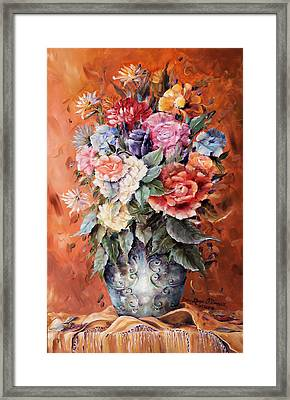 Wrapped In Flowers Framed Print by Ellen Lerner ODonnell