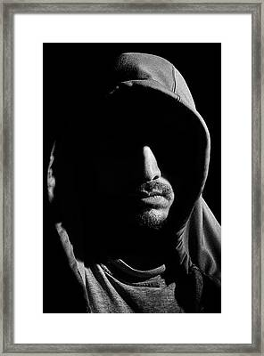 Wrapped In Shadows Framed Print