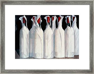 Wrapped Wine Bottles  Number One Framed Print
