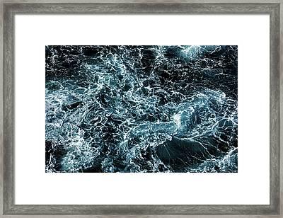 Wrath Of The Dark Tempest Ocean Framed Print