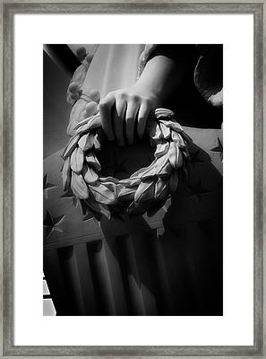 Wreath Of Victory And Shield Framed Print