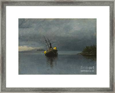 Wreck Of The Ancon Framed Print by Celestial Images
