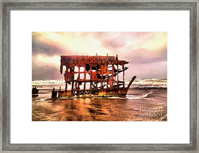 Wreck Of The Peter Iredale  Framed Print