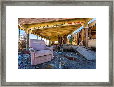 Wreckcliner Framed Print by Peter Tellone