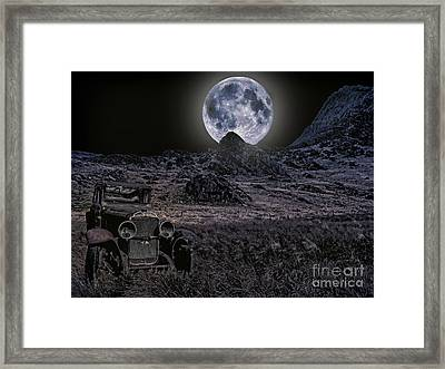 Wrecked By Moonlight  Framed Print by Chris Evans