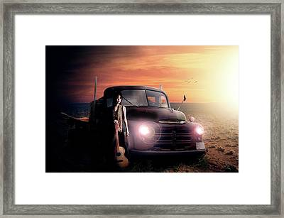 Wrecked  Framed Print by Nathan Wright