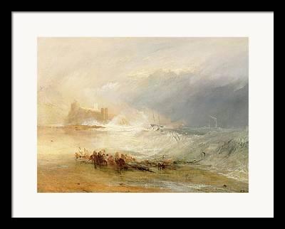 Off-shore Oil Framed Prints