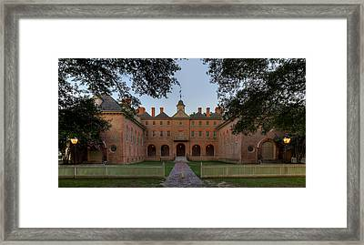 Wren Building At Dusk Framed Print