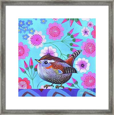 Wren Framed Print by Jane Tattersfield