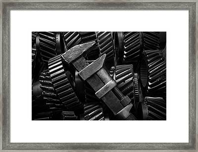 Wrench On Gears Framed Print