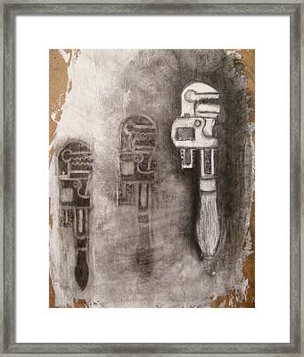 Wrench Repetition Framed Print by Taylor Black