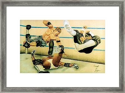 Wrestlers Framed Print by Sarah Cyr