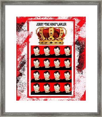 Wrestling Legend Jerry The King Lawler IIi Framed Print by Jim Fitzpatrick