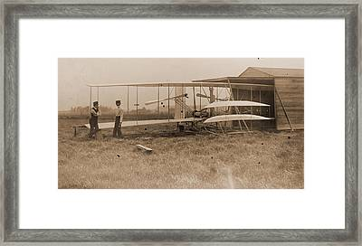 Wright Brothers 2nd Powered Machine Framed Print by Padre Art