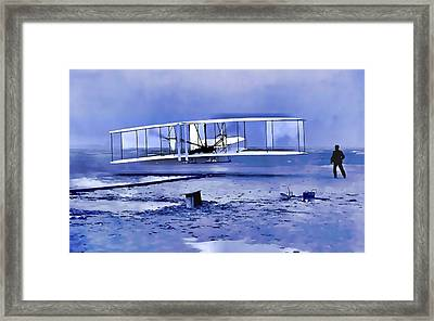 Wright Brothers First Flight Graphic Framed Print by Dan Sproul