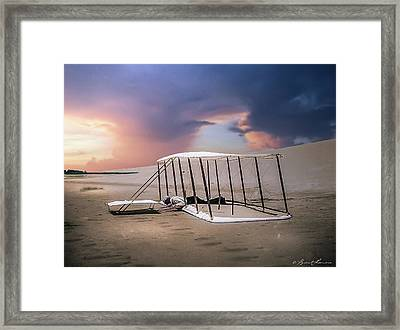 Wright Brothers Glider Framed Print by Brent Shavnore