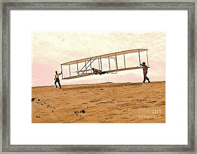 Wright Brothers Start Glide Framed Print