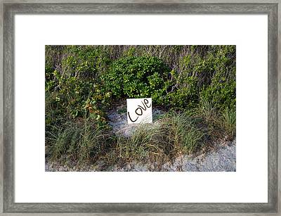 Wright Love Framed Print by Nicole Campos