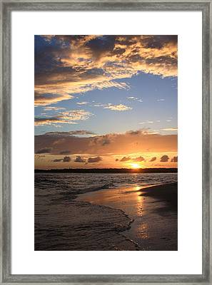 Wrightsville Beach Island Sunset Framed Print