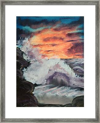 Wrightsville Beach North Carolina Framed Print by Margaret G Calenda