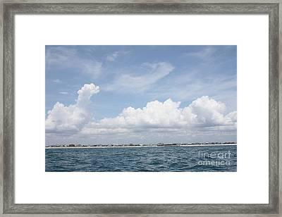 Wrightsville Nc As Seen From The Atlantic Ocean Framed Print by John Telfer