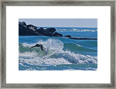 Wrightsville Surfer Framed Print by Brian Green