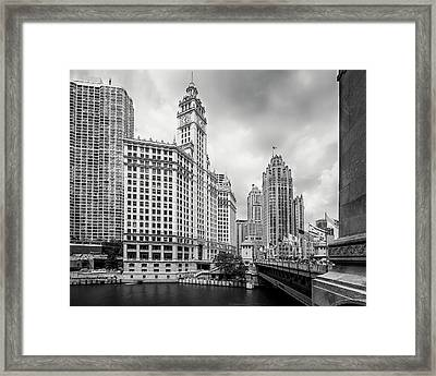 Framed Print featuring the photograph Wrigley Building Chicago by Adam Romanowicz