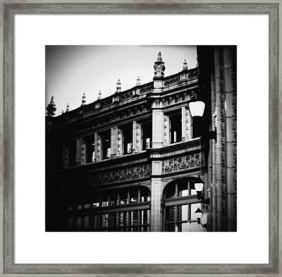 Wrigley Building Square Framed Print