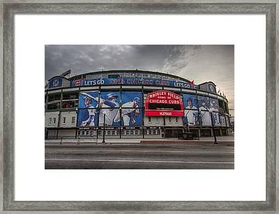 Wrigley Field Chicago Cubs Framed Print by Mike Burgquist