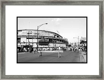 Wrigley Field Framed Print by Courtney Lively