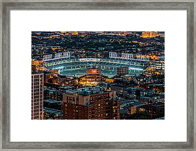 Wrigley Field From Park Place Towers Dsc4678 Framed Print by Raymond Kunst