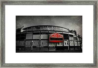 Wrigley Field Home Of The Chicago Cubs Framed Print by Stephen Stookey