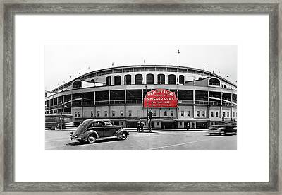 Wrigley Field - Home Of The Cubs C. 1939 Framed Print