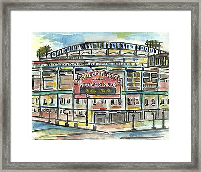 Wrigley Field Framed Print by Matt Gaudian