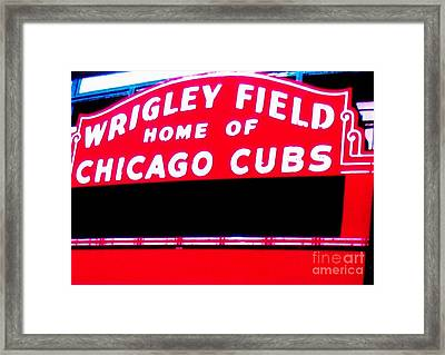 Wrigley Field Sign Framed Print