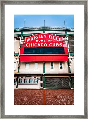 Wrigley Field Sign Photo Framed Print