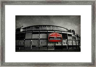 Wrigley Field Framed Print by Stephen Stookey