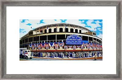 Wrigley Field Framed Print by T Kolendera