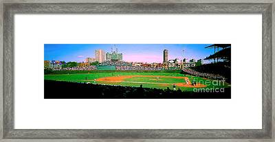 Framed Print featuring the photograph Wrigley Field  by Tom Jelen