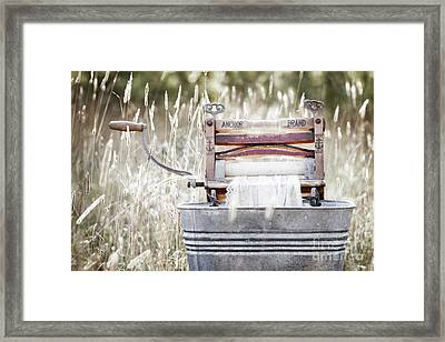 Wringer Washer - Retro Matte Framed Print