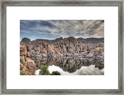 Wrinkled Reflections Framed Print by Donna Kennedy
