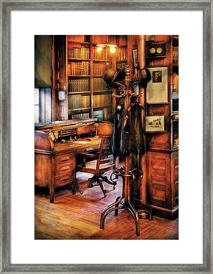 Writer - A Hard Day At Work Framed Print by Mike Savad