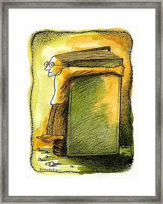 Writer Framed Print by Leon Zernitsky